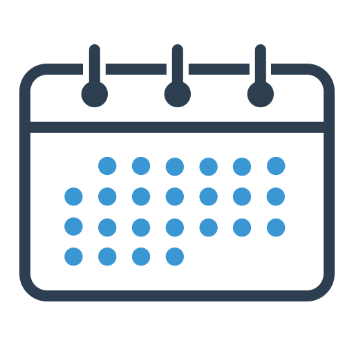 calendar, month, schedule, timetable icon