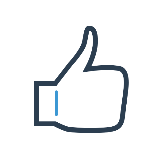 finger, gesture, hand, like, thumb up icon