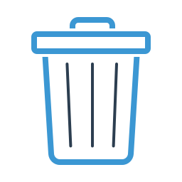 bin, delete, garbage, junk, recycling, remove, trash icon