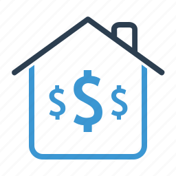 dollar, home loan, investment, mortgage, price, property, real estate icon