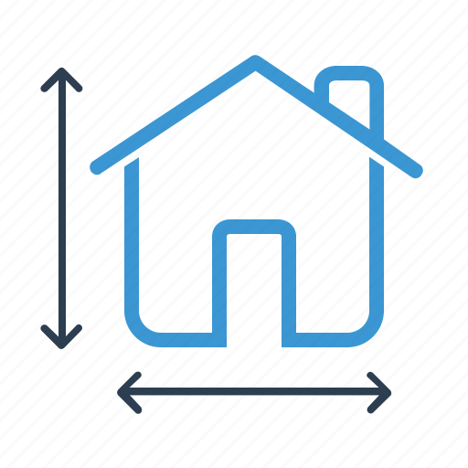 architecture, construction, house plan, measurement icon