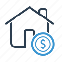 building, dollar, price icon