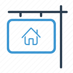 for rent, home loan, house, information, property, real estate, sign icon