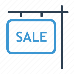 for sale, house, information, property, real estate, sell home, sign icon