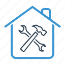 construction, home repair, property, renovation icon