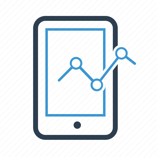 analytics, diagram, graph, mobile, phone, report, statistics icon