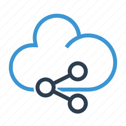 cloud, connection, media, network, share, sharing, web network icon