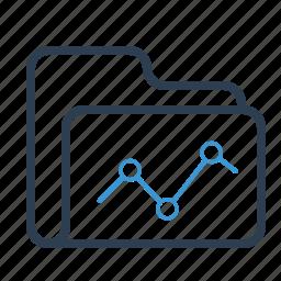 analytics, data, diagram, documents, folder, report, statistics icon