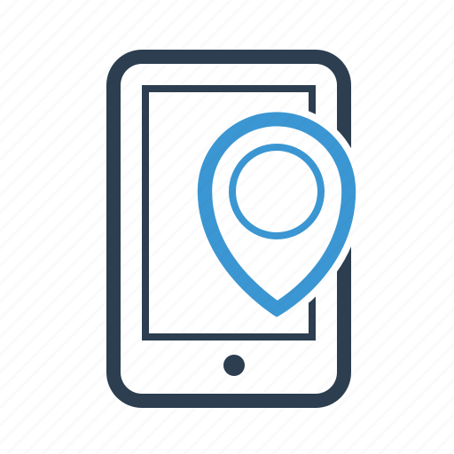 gps, location, mobile, phone, pin icon