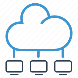 cloud, cloud computing, network, server, share, sharing, storage icon