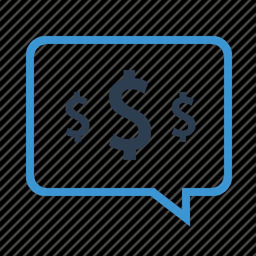 budget dicussion, communication, dollar, finance, mesage, message bubble, money icon