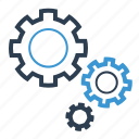 configuration, gear, working icon