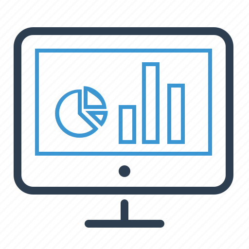 analytics, computer, graph, monitoring, report, screen, statistics icon