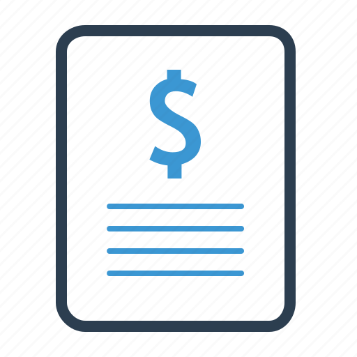 budget, invoice, sales report icon