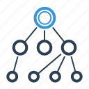 connection, hierarchy, network icon