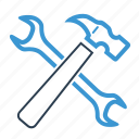gear, hammer, options, preferences, repair, settings, tools icon
