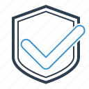 brand protection, checkmark, security, shield icon