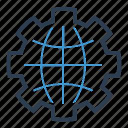 communication, global solution, language, preferences, settings, world, worldwide icon