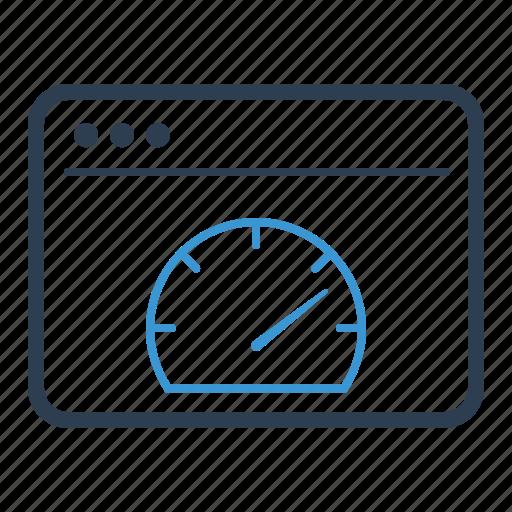 browser, page speed, server response, speedometer icon