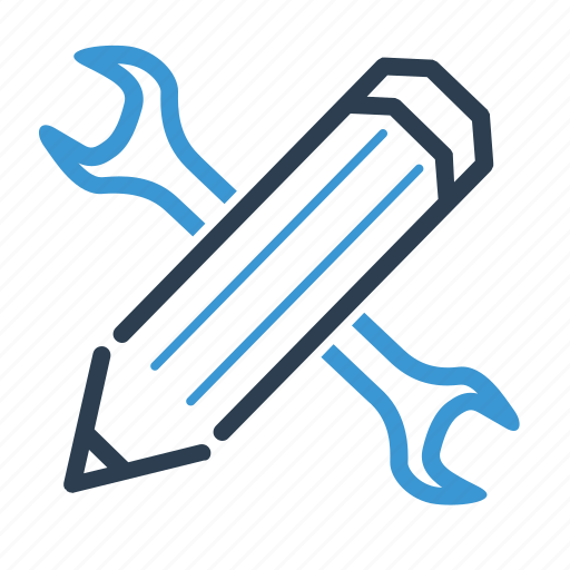 creativity, custom, design, designing, pencil, tool, wrench icon