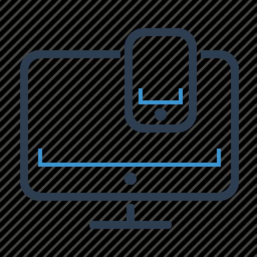 adaptive, computer, mobile, pc, personal computer, responsive design, screen icon