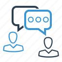 chat, communication, conversation, dialogue icon