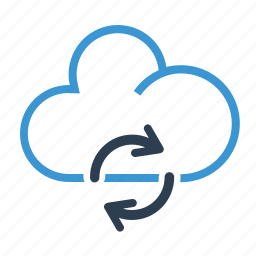 cloud, network, refresh, share, storage, sync, syncing icon