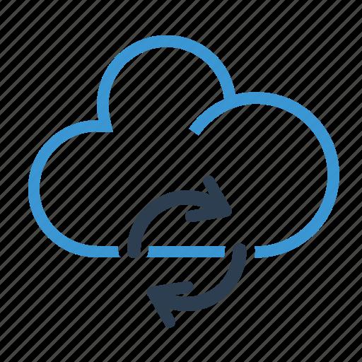 cloud, refresh, storage, sync icon