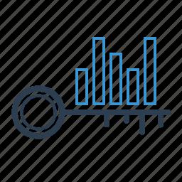 analysis, analytics, keyword, keyword analytics, keywording, research, statistics icon
