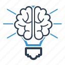 brain, creativity, productivity icon