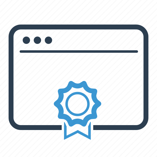 award, browser, optimization, page quality icon