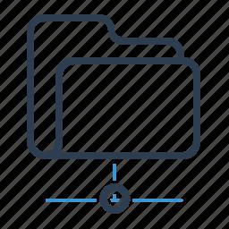 cloud, data, documents, folder, share, shared folder, storage icon