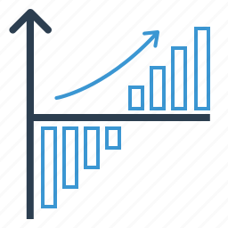 analytics, chart, diagram, growth, increase, return of investments, statistics icon