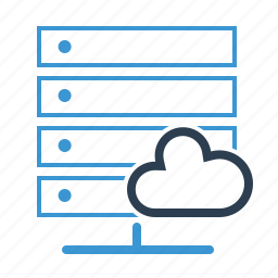 cloud, data base, hosting, server, share, sharing, storage icon