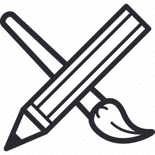 brush, drawing, paint, painting, pen, pencil, tools icon