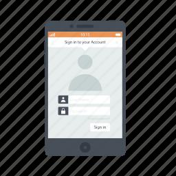 account, mobile, mobile account, mobile applications, mobile apps, mobile features, mobile phone icon icon