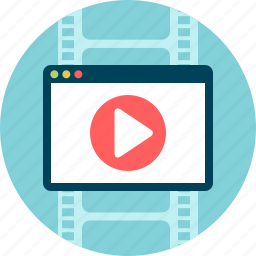 animation, cinema, film, motion, movie, play, video icon