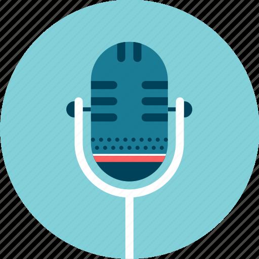 microphone, show, sing, speak, stage, talk icon
