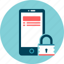 information, lock, mobile, phone, safety, security, smartphone icon