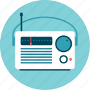 am-fm, music, news, portable, radio, station icon