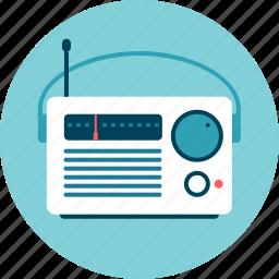 am-fm, music, news, portable, radio, station icon