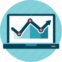 chart, data, grow, performance, results, seo, statistics icon