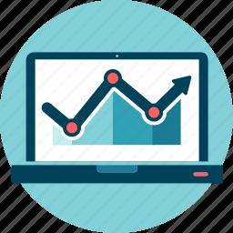 chart, data, grow, performance, results, seo, statistics icon