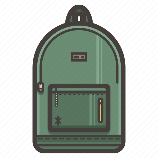 backpack, travel icon
