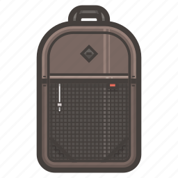 backpack, school icon