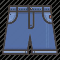 blue, jeans, short icon
