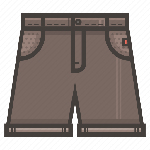 brown, jeans, short icon