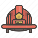 firefighter, hat icon