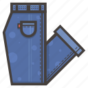 blue, folded, jeans icon