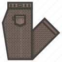 brown, folded, pants icon